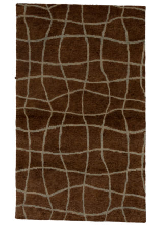 Jade Collection 3X5 Brown Wool Area Rug