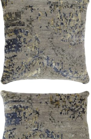 Contemporary 1X2 Grey Wool Pillow
