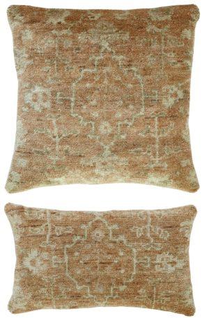 Traditional 1X2 Orange Wool Pillow