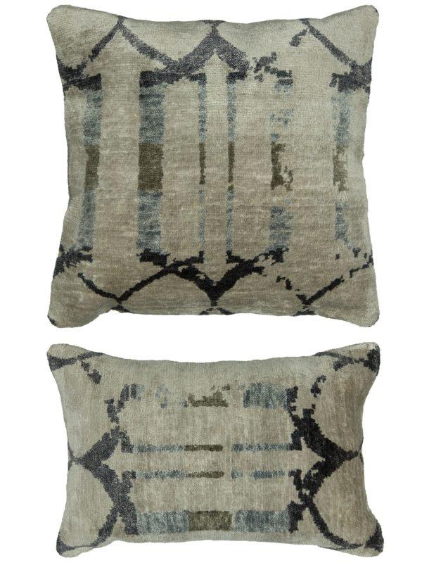 Contemporary 1X2 Silver Pillow