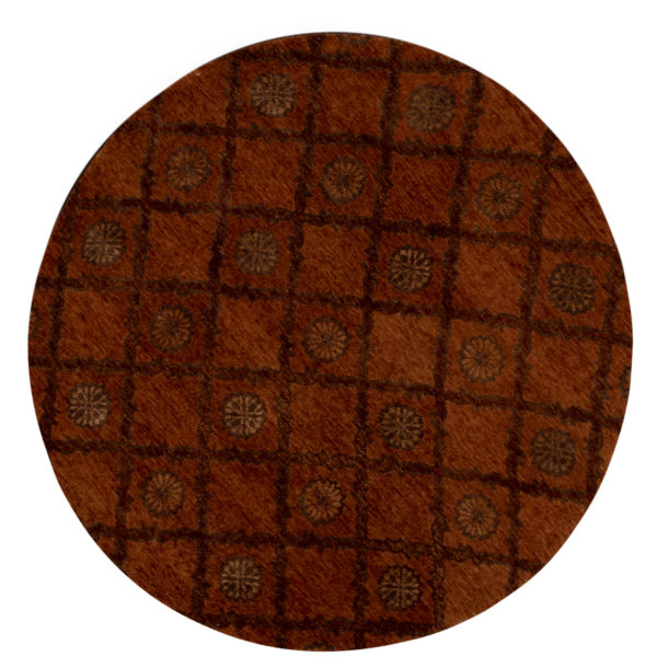 Midlands Collection 6' Round Pink Wool Area Rug