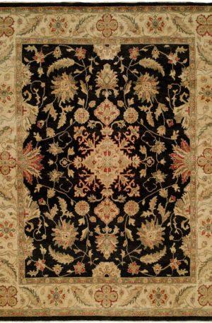 Anatolia Collection 5X8 Black Wool Area Rug