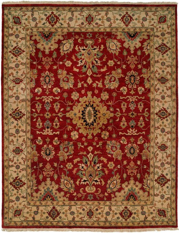 Anatolia Collection 6X9 Red Area Rug