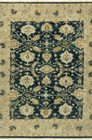 Anatolia Collection 3X5 Blue Wool Area Rug
