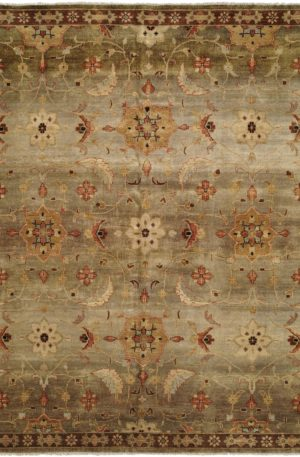 Murano Collection 4X6 Brown Wool Area Rug