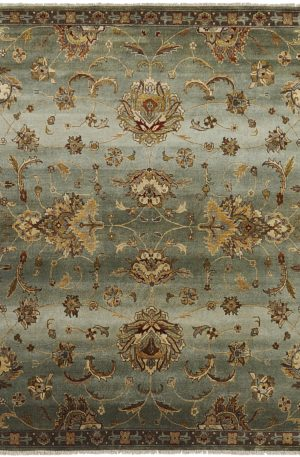 Murano Collection 3X5 Brown Wool Area Rug