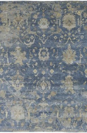 Trident Collection 3X5 Blue Wool Area Rug