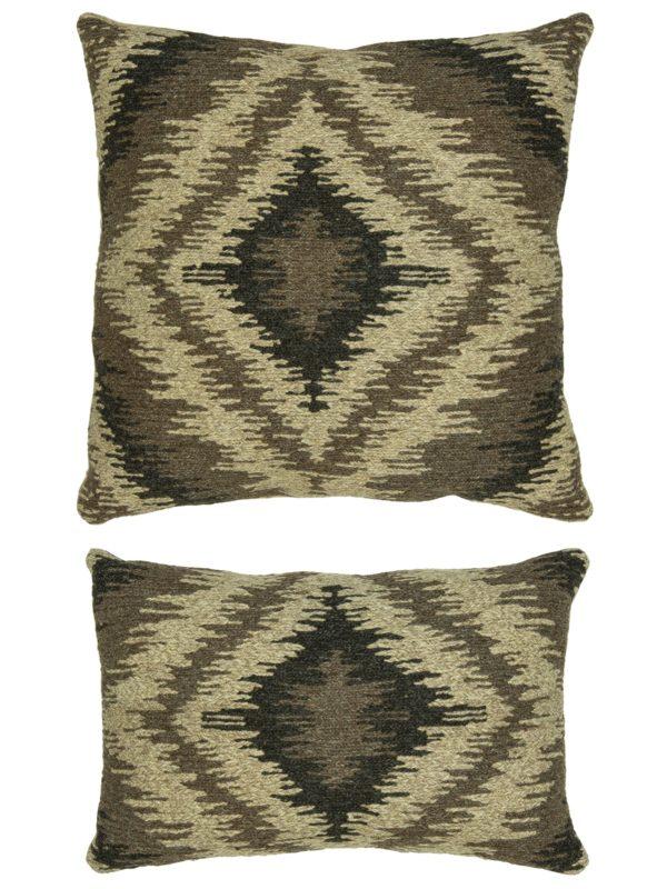Soumak Pillow 1x2 Brown Tribal