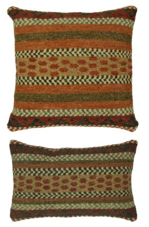 Soumak Pillow 1x2 Multi Color Tribal