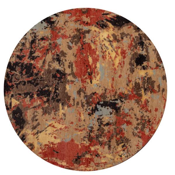 Holara Collection 8' Round Gold Area Rug
