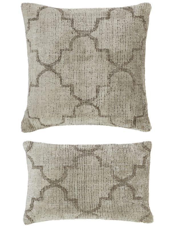 Contemporary 1X2 Beige Wool Pillow