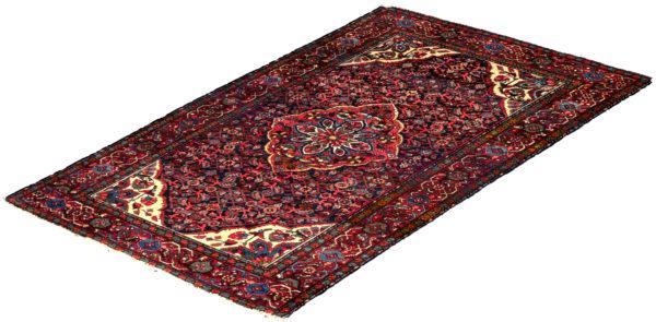 Persian Hamadan 4X6 Blue Wool Area Rug