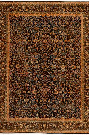 Afghan Bakshaish 9X12 Blue Wool Area Rug