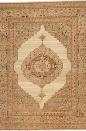 Afghan Nooristan 9X12 Ivory Wool Area Rug