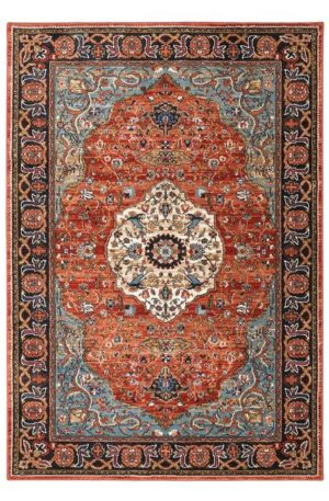 Spice Market Collection 5x8 Blue Area Rug