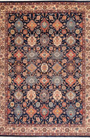 Pakistani Traditional 10x14 Navy Wool Area Rug