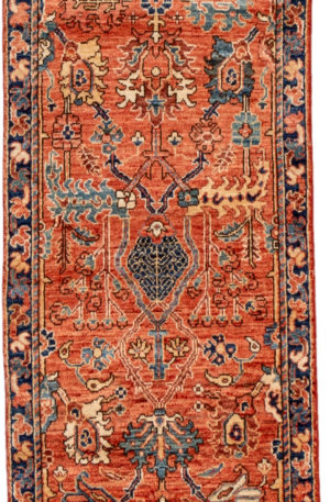 Pakistani Traditional Runner Red Wool