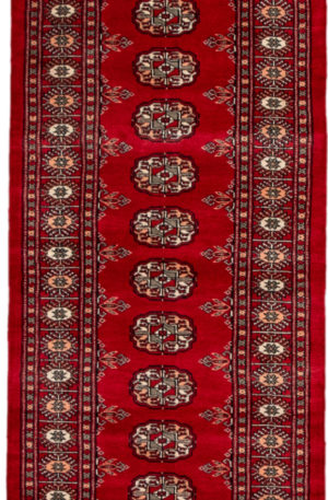 Pakistan Bokhara 2x6 Red Wool Area Rug