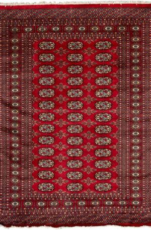 Pakistan Bokhara 4x6 Red Wool Area Rug