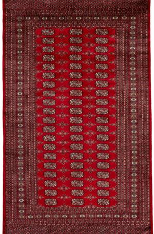 Pakistan Bokhara 5x8 Red Wool Area Rug