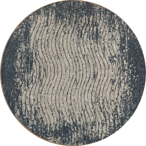 Amazon 8' Round Blue Wool
