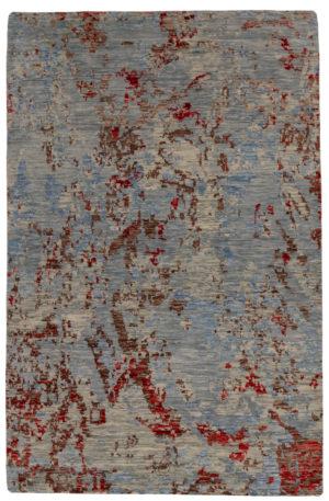 Splash Collection 6X9 Grey Wool Area Rug