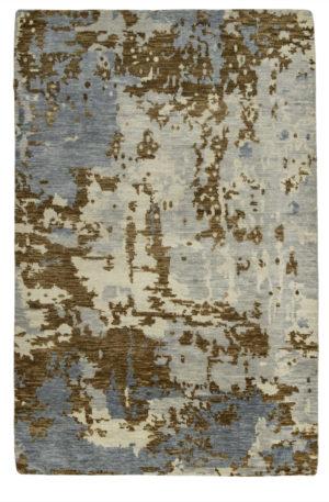 Splash Collection 5X8 Multi Color Wool Area Rug