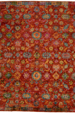 Contemporary 8X10 Red Area Rug