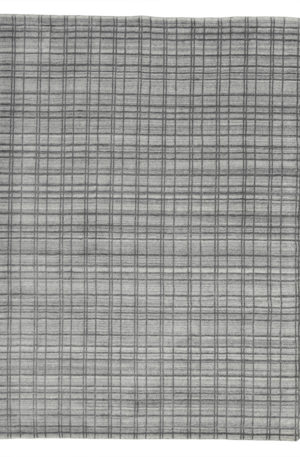 Hand Loomed Contemporary 5X8 Silver Wool Area Rug