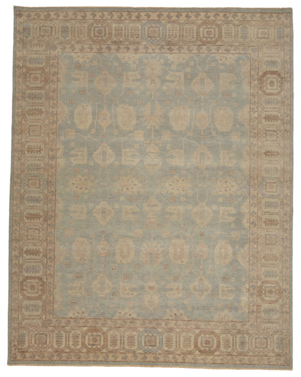 Ariana Collection 8X10 Blue Wool Area Rug