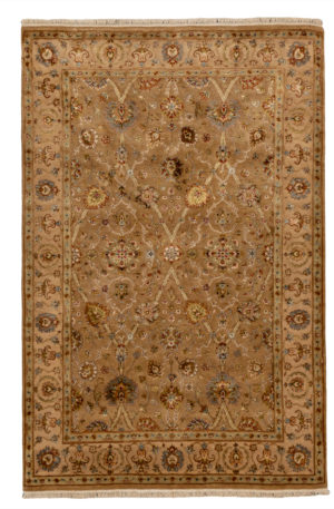 Royal Collection 4X6 Gold Wool Area Rug