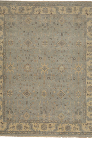 Ariana Collection 8X10 Grey Wool Area Rug
