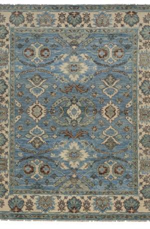 Soft Harmony 8X10 Blue Wool Area Rug