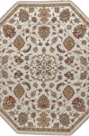 Zeigler 4' Octagon Ivory Wool