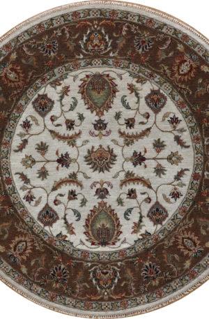 Zeigler 6' Octagon Ivory Wool