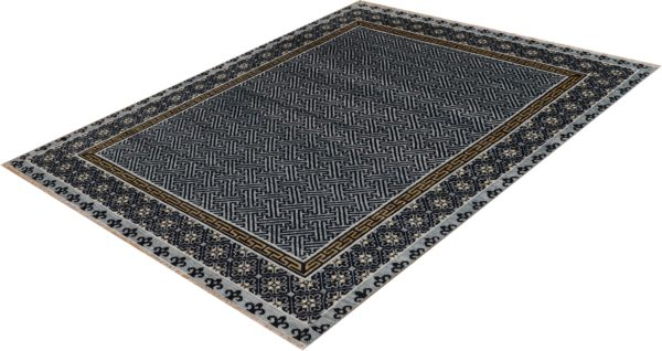 Anatolian Collection 8x10 Blue Wool Area Rug