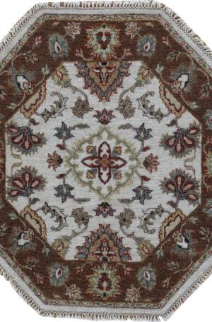 Zeigler 3' Octagon Black Wool Area Rug
