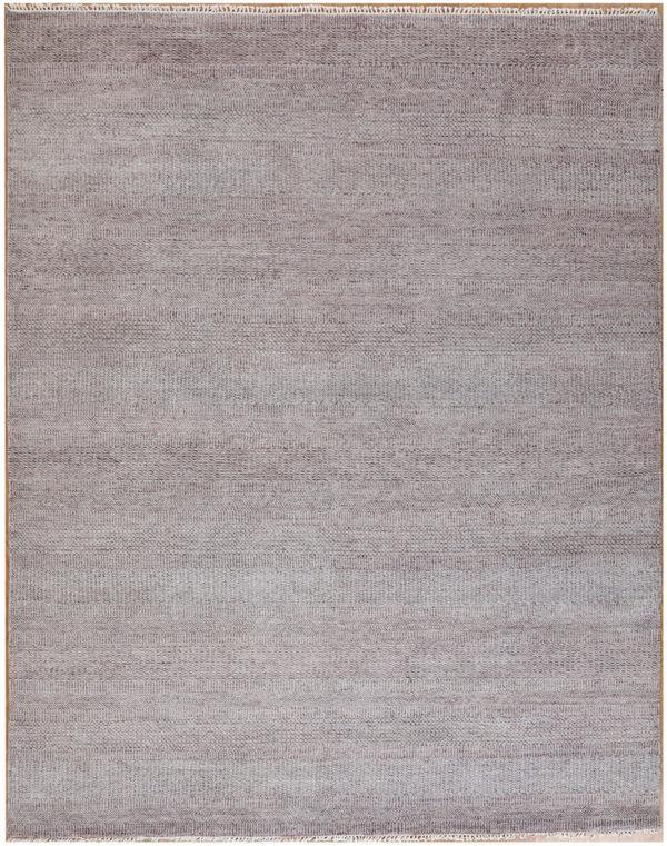 Soft Harmony 8x10 Grey Wool & Sari Silk Rug