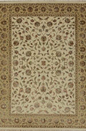 New Elegance 5x8 Ivory Wool & Silk Area Rug