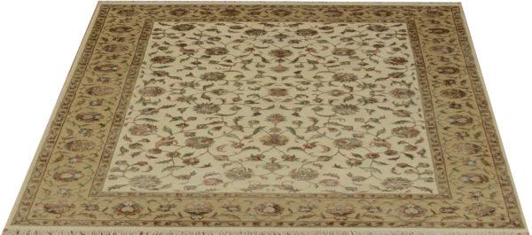 New Elegance 8x10 Ivory Wool & Silk Area Rug