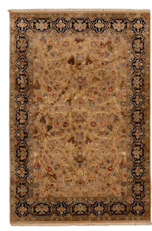 Royal Collection 4X6 Beige Wool Area Rug