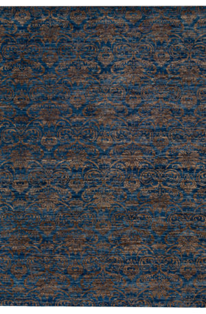 Contemporary 8X10 Blue Wool Area Rug
