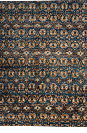 Transitional 9X12 Blue Wool Area Rug