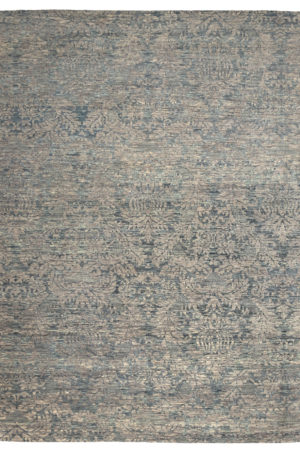 Transitional 9X12 Silver Wool Area Rug