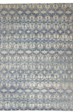 Transitional 10X14 Grey Blue Wool Area Rug