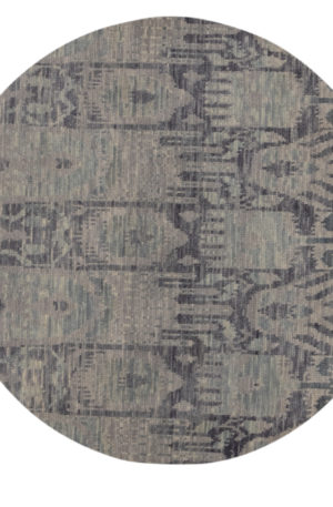 Soft Melody 4' Round Grey Wool Area Rug