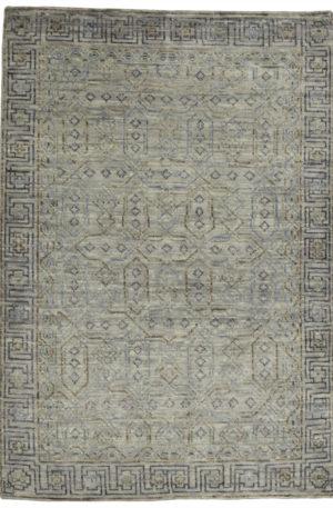 Soft Harmony 4X6 Gray Wool Area Rug