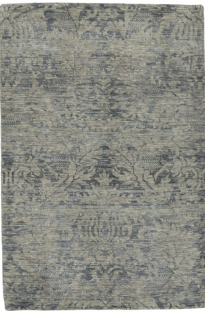Soft Harmony Collection 4X6 Silver Wool Area Rug