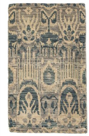 Soft Harmony Collection 2X3 Grey Wool Area Rug