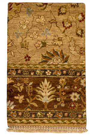 Contemporary 2X3 Beige Wool Area Rug